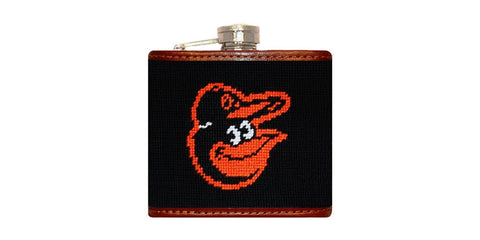 Baltimore Orioles Needlepoint Flask