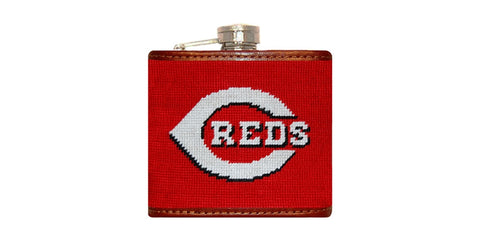 Cincinnati Reds Needlepoint Flask