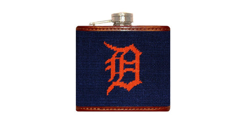Detroit Tigers Needlepoint Flask