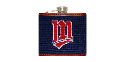 Minnesota Twins Needlepoint Flask