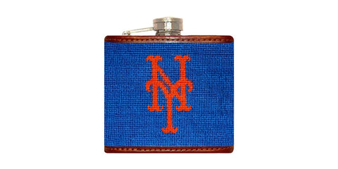 New York Mets Needlepoint Flask