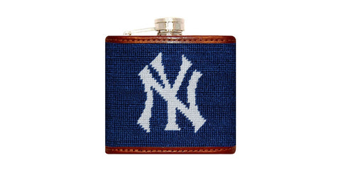 New York Yankees Needlepoint Flask