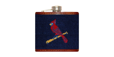 St. Louis Cardinals Needlepoint Flask
