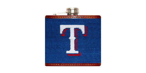 Texas Rangers Needlepoint Flask