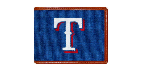 Texas Rangers Needlepoint Wallet