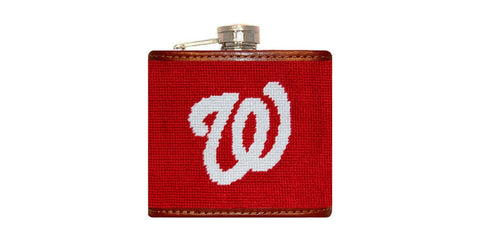 Washington Nationals Needlepoint Flask