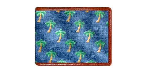 Palm Tree Pattern Needlepoint Wallet