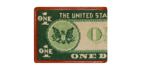 Dollar Bill Needlepoint Wallet