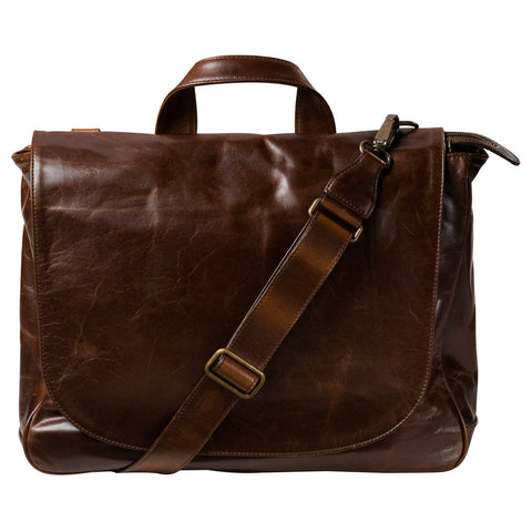 Wynn Classic Mail Bag - Brompton Brown