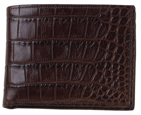 Bi Fold Wallet -Chocolate Alligator