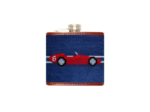 Formula One Needlepoint Flask