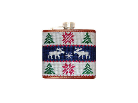 Christmas Sweater Needlepoint Flask