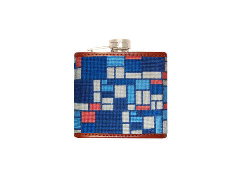 Box Pattern Needlepoint Flask