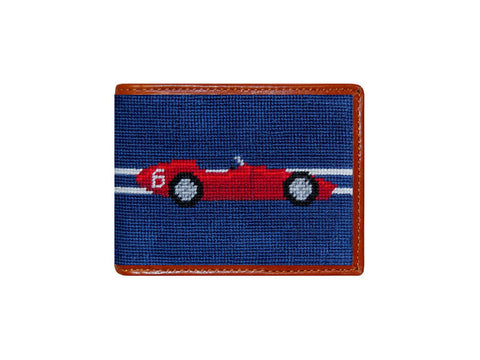 Formula One Needlepoint Wallet