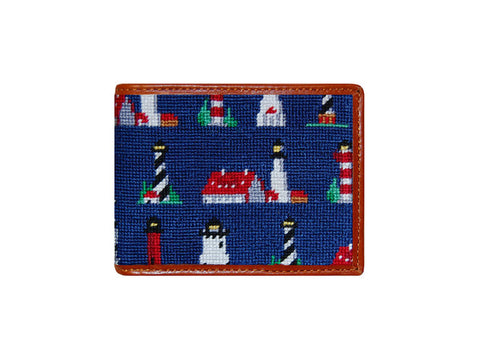 Lighthouse Pattern Needlepoint Wallet