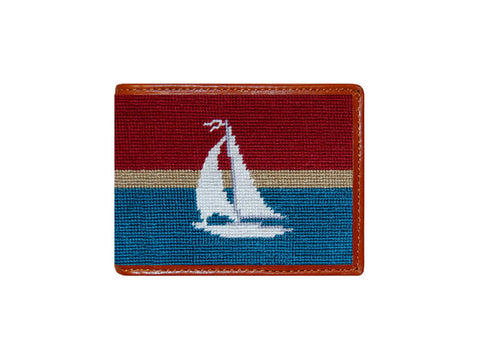 Sailboat Stripe Needlepoint Wallet