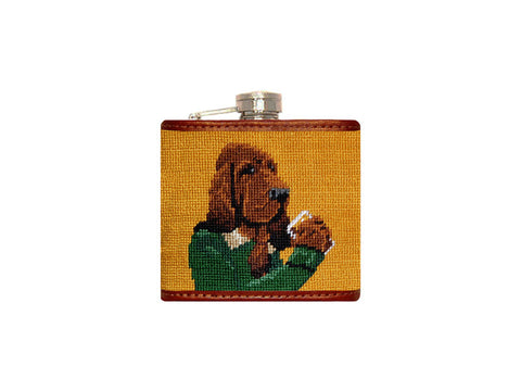 Booze Hound Needlepoint Flask