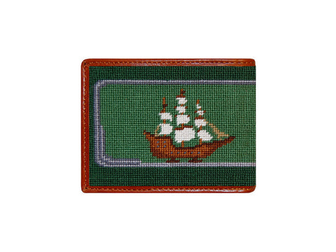 Ship in a Bottle Needlepoint Bi-fold Wallet
