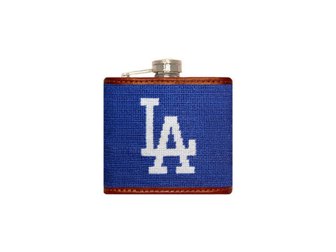 Los Angeles Dodgers Needlepoint Flask