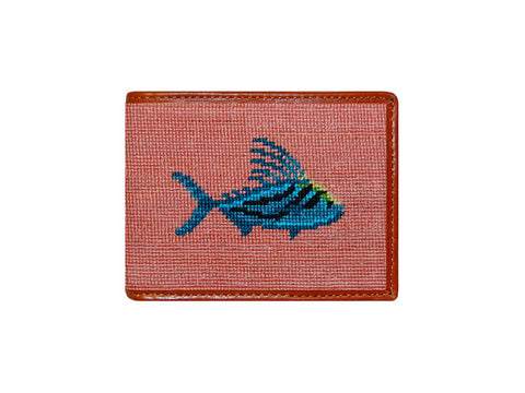 Roosterfish Needlepoint Wallet