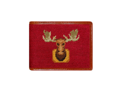 Moose Needlepoint Wallet