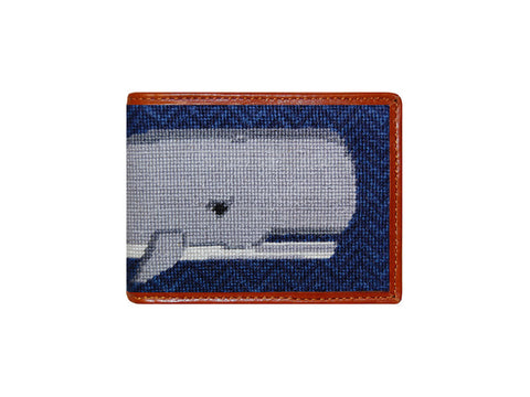 Big Whale Needlepoint Wallet