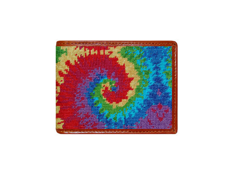 Tye Dye Needlepoint Wallet