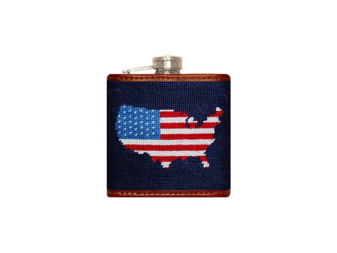 Americana Needlepoint Flask