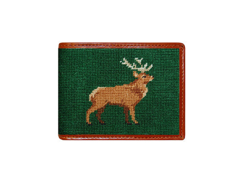 Stag Needlepoint Wallet