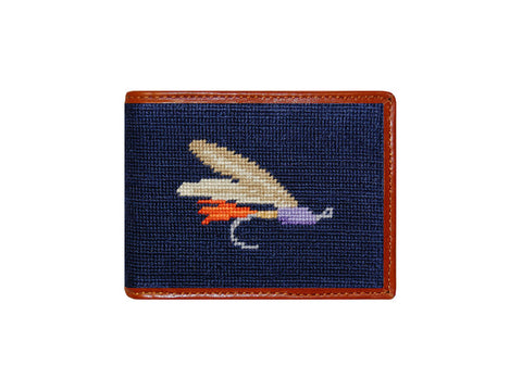Fishing Fly Needlepoint Wallet