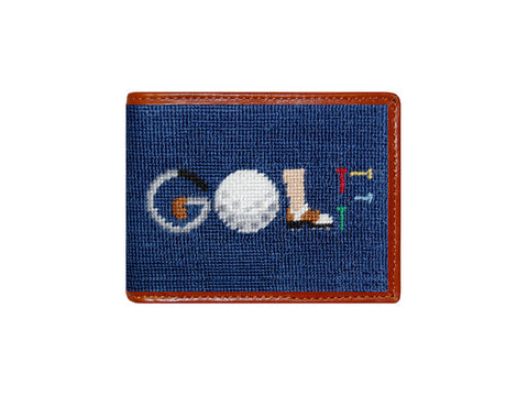 """GOLF"" Needlepoint Wallet"