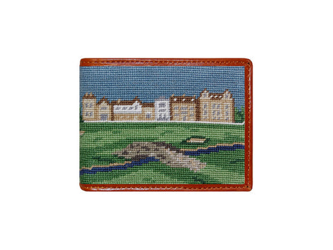 Old Course Scene Needlepoint Wallet