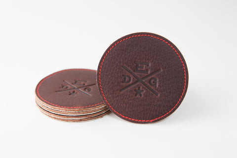 EDG Horween Football Leather Coasters