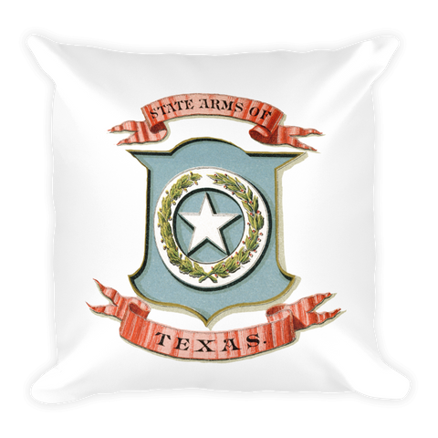 Texas Coat of Arms Pillow