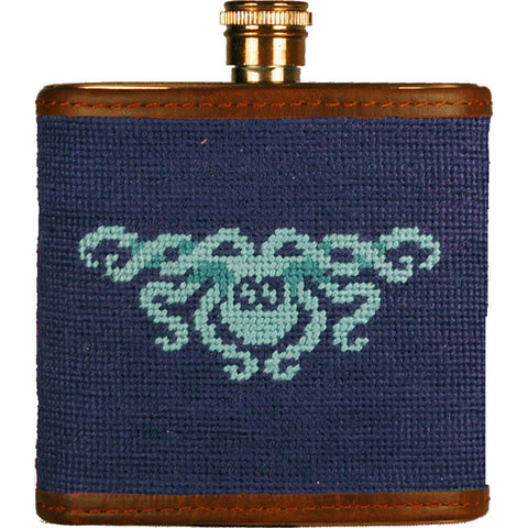 Kraken Needlepoint Flask