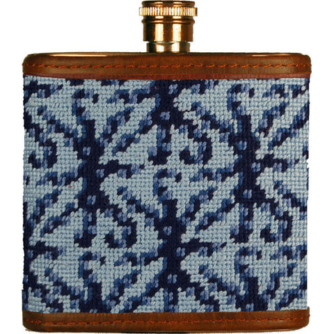 Kraken Print Needlepoint Flask