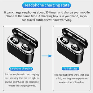Wireless Bluetooth Earbuds & 3000mAh Bank