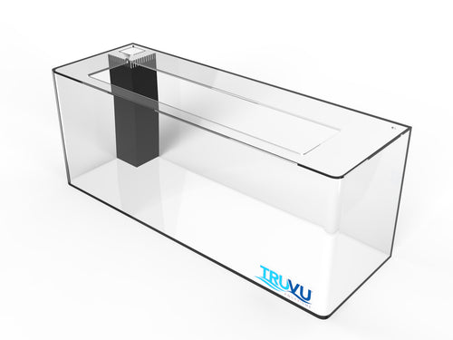 TRUVU 20 Gallon Saltwater Acrylic Aquarium 30x10x14