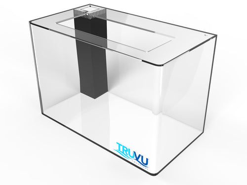 TRUVU 29 Gallon Saltwater Acrylic Aquarium 30x12x18