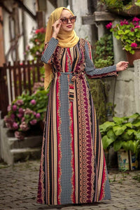 Mixed Prints Maxi