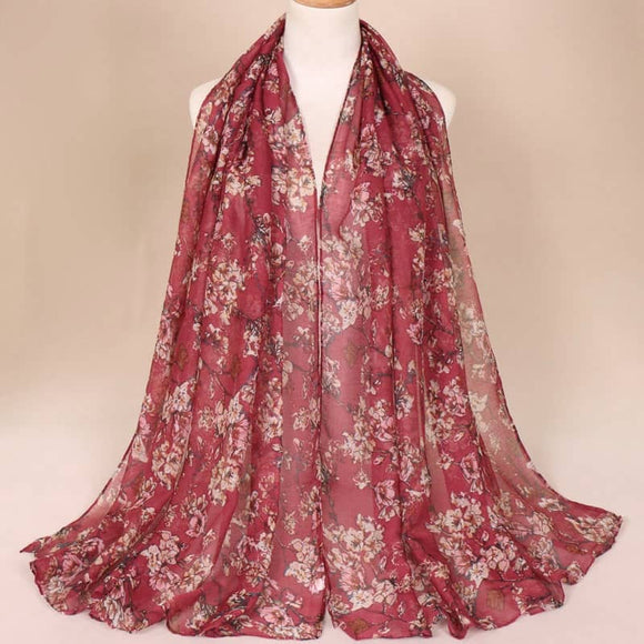 Maroon Cotton Scarf