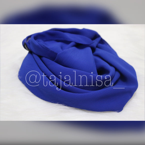 Crinkle Chiffon - Royal Blue