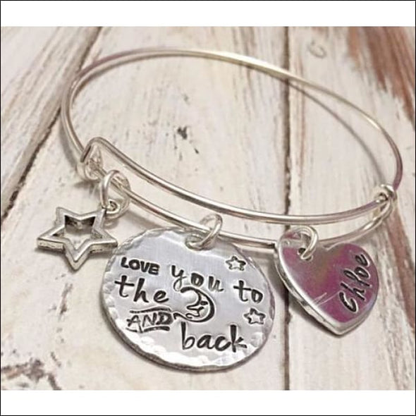 I Love You To The Moon And Back Bracelet - Jewelry & Watches