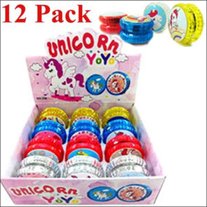 Light-Up Unicorn Yo-Yos Set Of 12 - Unicorn Party Favors