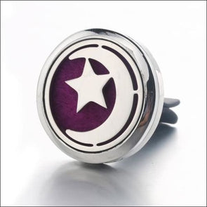 Moon & Star Car Air Diffuser Stainless Steel Vent - Jewelry & Watches