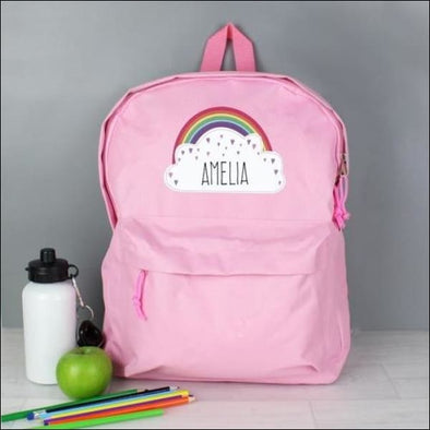 Personalised Rainbow Pink Backpack - Gifts