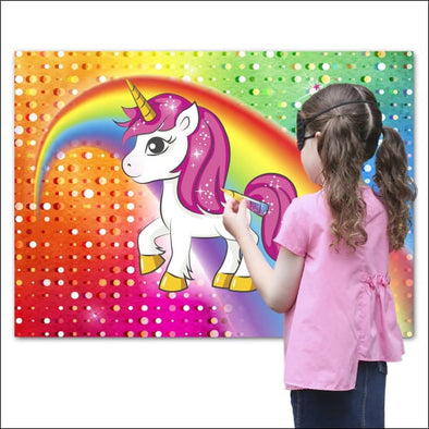 Pin The Horn On The Unicorn Party Game - Noisemakers