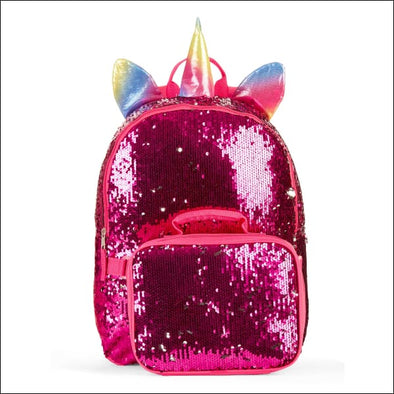 Sequin Unicorn Backpack With Lunch Bag - Wonder Nation