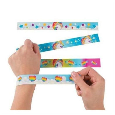 Set Of 12 Unicorn Slap Bracelets - Fashion Bracelets & Charms