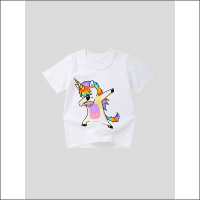 Toddler Girls Unicorn Print Tee - Womens Clothing